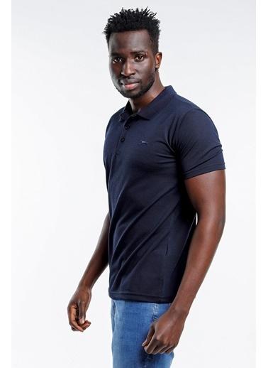 Slazenger Slazenger SOHO Erkek T-Shirt Hardal Lacivert
